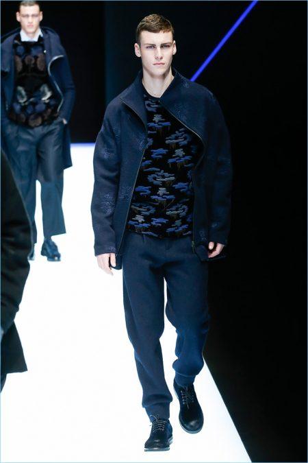 Emporio Armani Delivers Dark Urban Style for Fall '18 Collection
