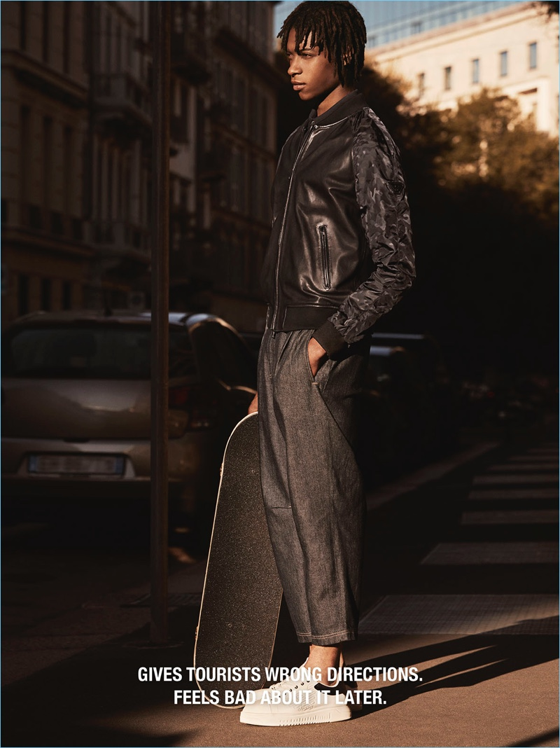 Italian brand Emporio Armani street casts its spring-summer 2018 campaign.