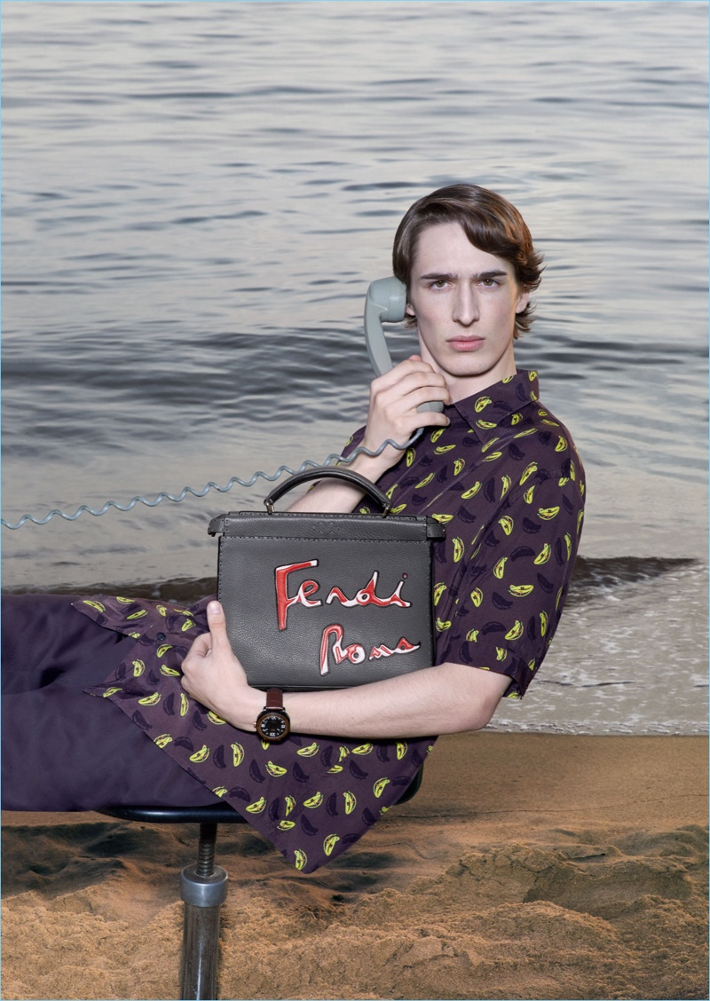 Dylan Fender fronts Fendi's spring-summer 2018 campaign.