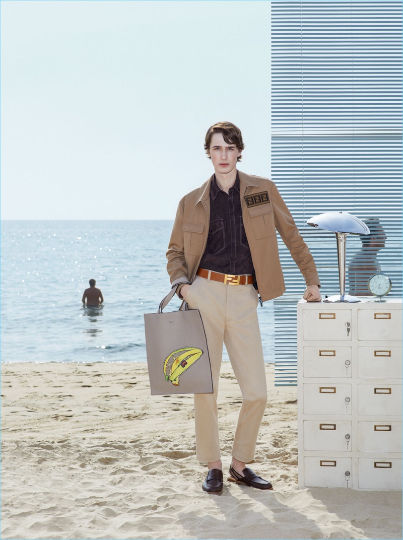 Fendi enlists model Dylan Fender to star in its spring-summer 2018 campaign.