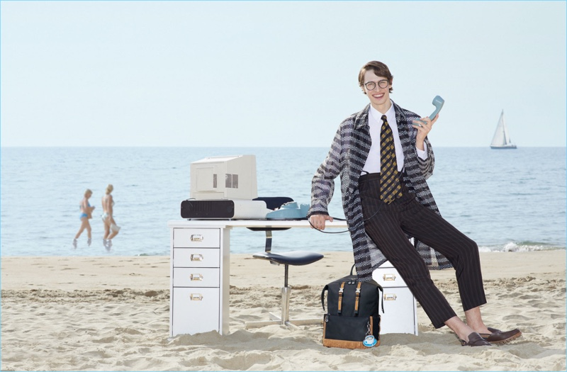 Model Dylan Fender appears in Fendi's spring-summer 2018 campaign.
