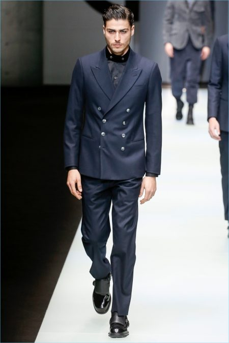 Labels such as Giorgio Armani easily deliver timeless essentials such as sharp tailoring.