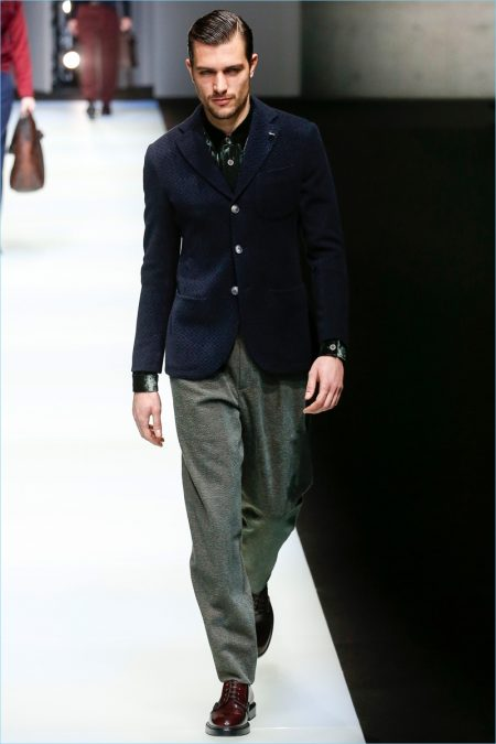 Giorgio Armani Refines Masculine Elegance for Fall '18