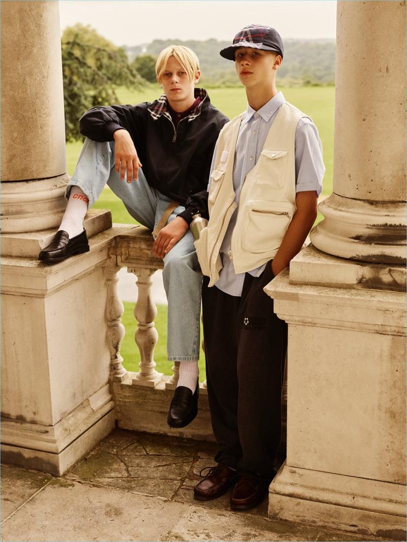 bbce23744edb Designer Gosha Rubchinskiy reworks classics like the Harrington jacket for  Burberry.