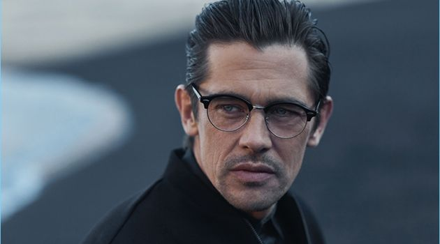 Sporting glasses, Werner Schreyer connects with Hiltl for fall-winter 2018.