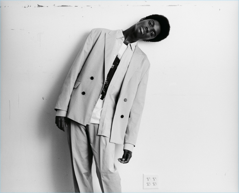 Alton Mason appears in HUGO's spring-summer 2018 campaign.