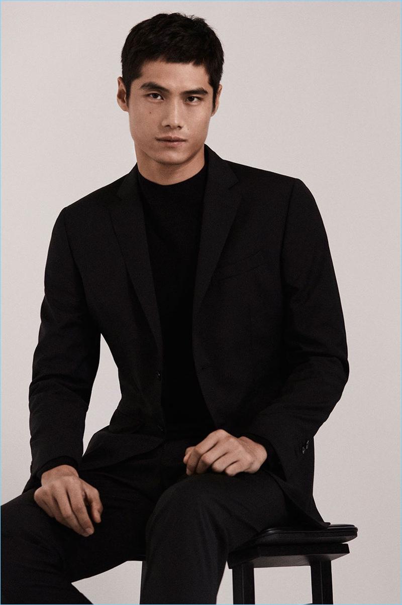 Hao Yun Xiang stars in a fashion edit for Massimo Dutti.
