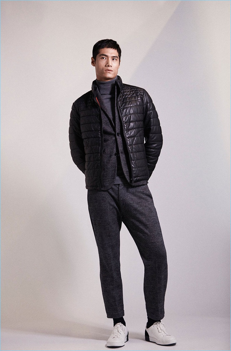 Chinese model Hao Yun Xiang dons contemporary style from Massimo Dutti.