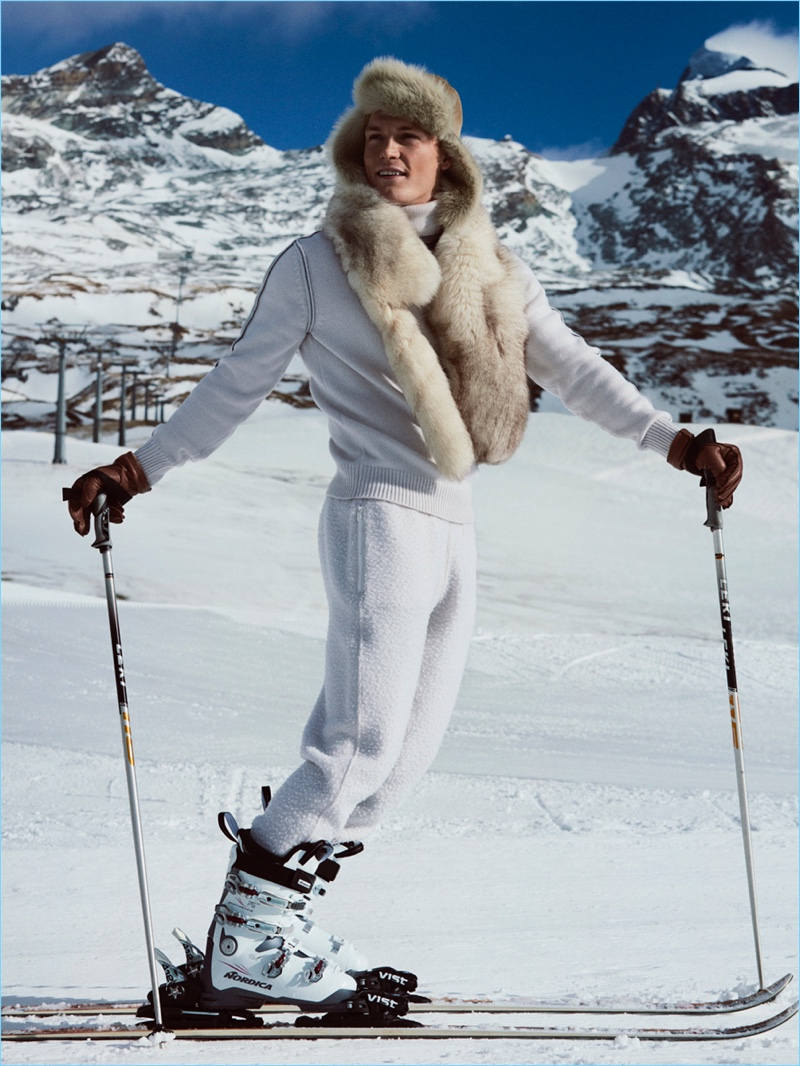 Harry Goodwins Hits the Slopes with Spanish GQ