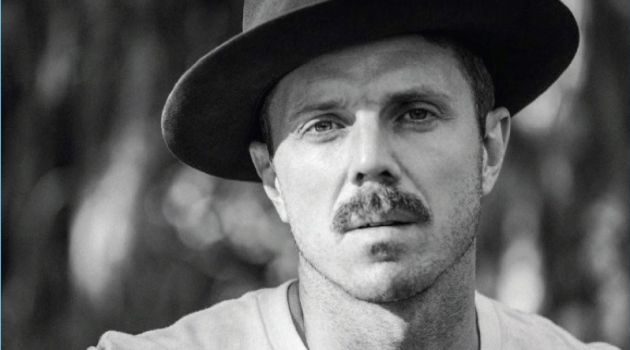 Jake Shears wears a Levi's Vintage Clothing shirt with a Worth & Worth hat.
