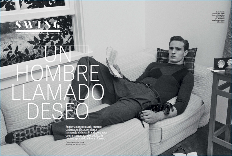 Julian Schneyder Channels Marlon Brando for GQ México