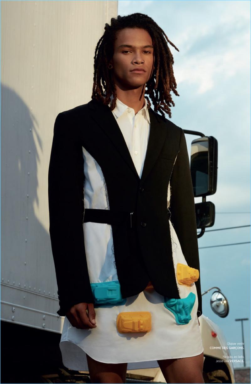 Olajuwon Anderson wears Comme des Garçons.