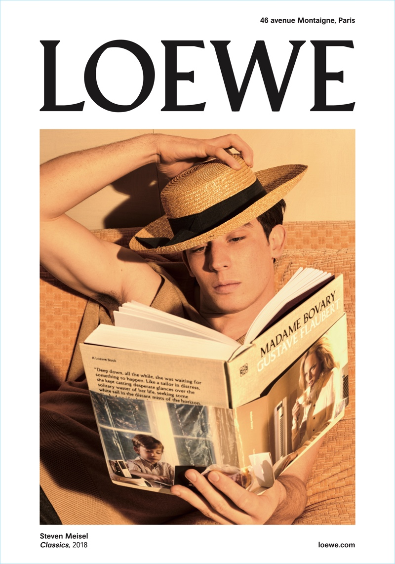 Josh O'Connor fronts Loewe's fall-winter 2018 campaign.