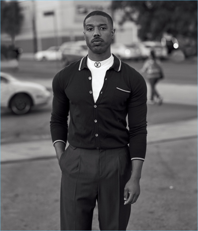 Black Panther actor Michael B. Jordan appears in a new photo shoot for WSJ. magazine.