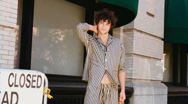 Miles McMillan Goes on a Dog Walk with CR Fashion Book