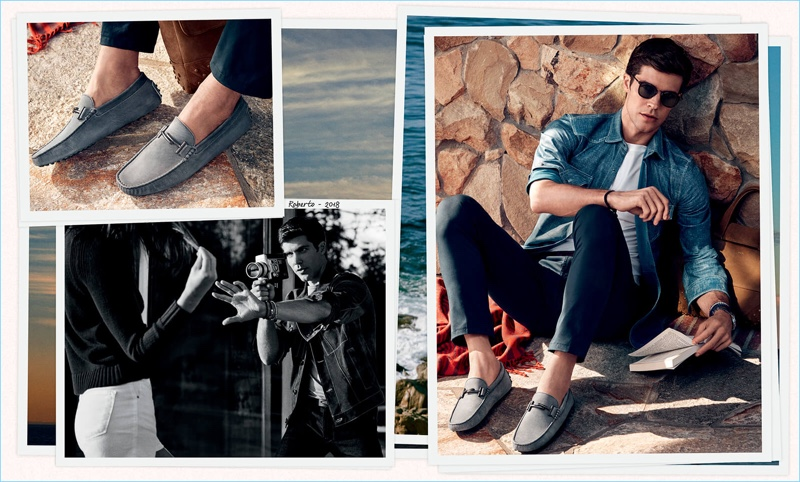 Roberto Bolle stars in Tod's spring-summer 2018 campaign.