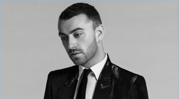 Donning a suit, Sam Smith wears Givenchy.