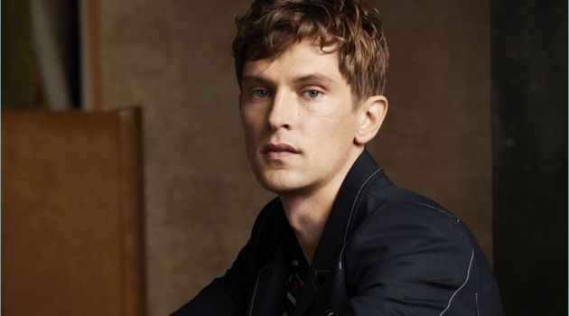 Mathias Lauridsen fronts Tiger of Sweden's spring-summer 2018 campaign.