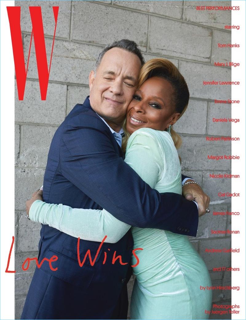 Tom Hanks and Mary J Blige cover W magazine.