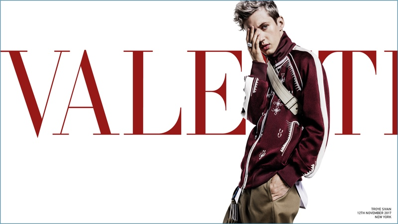 Troye Sivan fronts Valentino's spring-summer 2018 campaign.