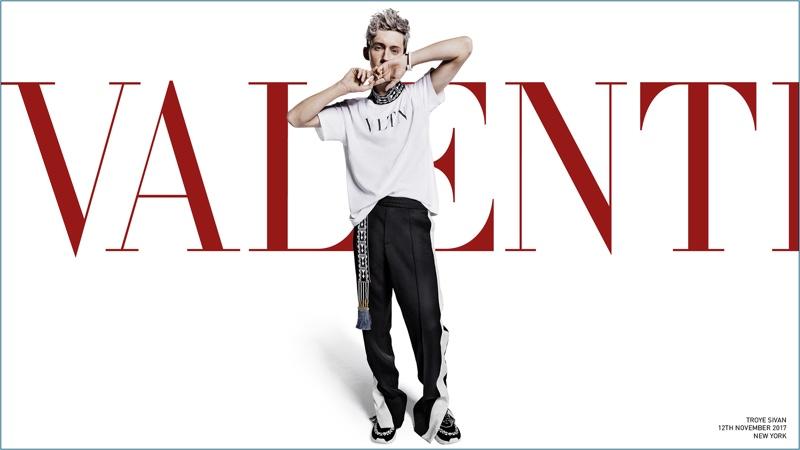 Singer Troye Sivan stars in Valentino's spring-summer 2018 campaign.