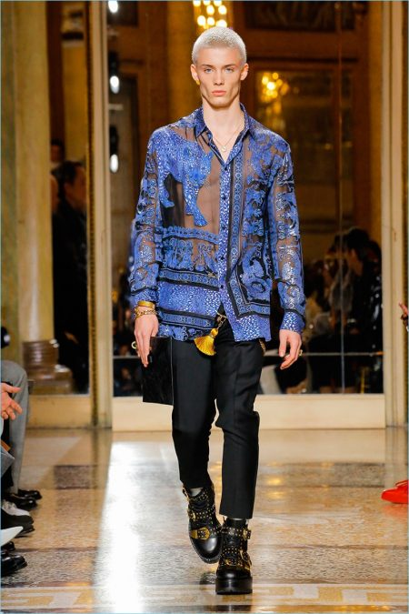 Versace Delivers Print Heavy Fall '18 Collection