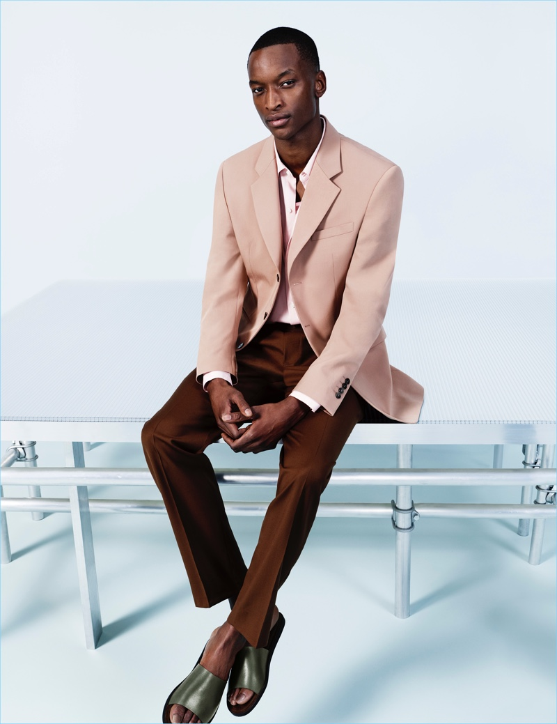 Oliver Kumbi stars in Zara Man's spring-summer 2018 campaign.