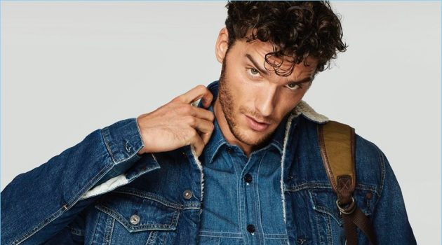 Aurélien Muller Doubles Down on Denim for Men's Health España