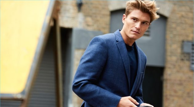 Oliver Cheshire fronts Marks & Spencer's spring-summer 2018 Autograph campaign.