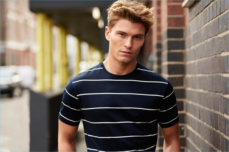 British model Oliver Cheshire connects with Marks & Spencer for Autograph's spring-summer 2018 campaign.