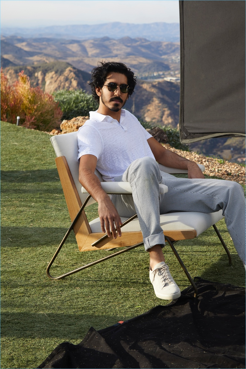 Behind the Scenes  Actor Dev Patel poses for Ermenegildo Zegna s spring-summer  2018 campaign ffceb45fda6