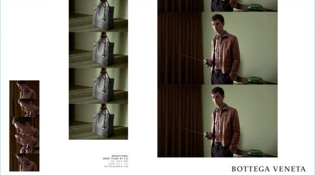 Janis Ancens stars in Bottega Veneta's spring-summer 2018 campaign.