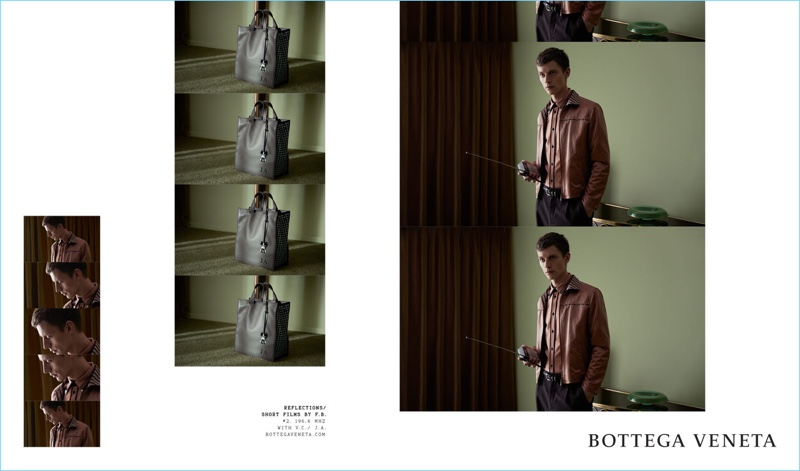 d27301a1e98e Janis Ancens stars in Bottega Veneta s spring-summer 2018 campaign.