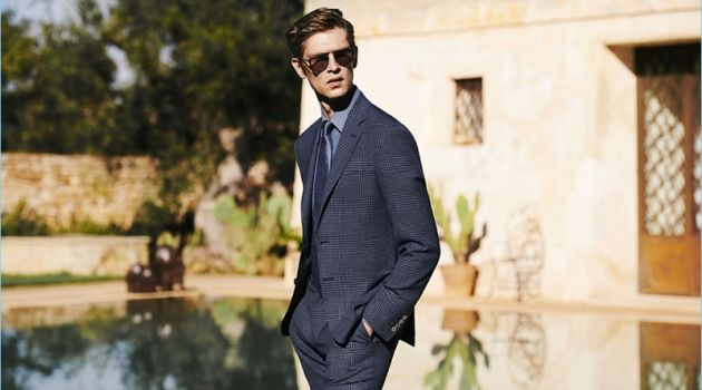 Mathias Lauridsen Reunites with Canali for Spring '18 Campaign