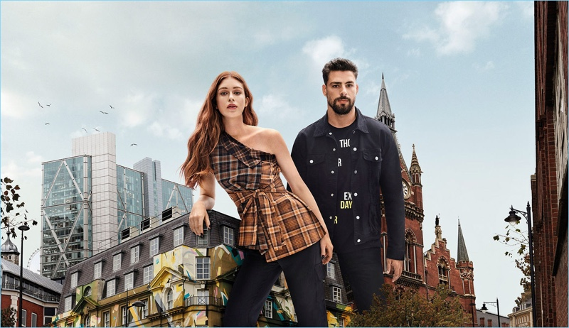 Marina Ruy Barbosa and Cauã Reymond and couple up for Colcci's fall-winter 2018 campaign.