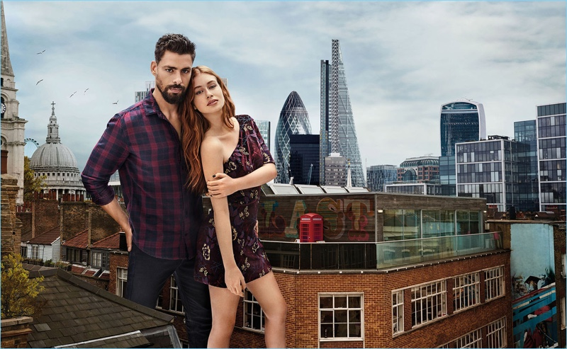 Actors Cauã Reymond and Marina Ruy Barbosa appear in Colcci's fall-winter 2018 campaign.