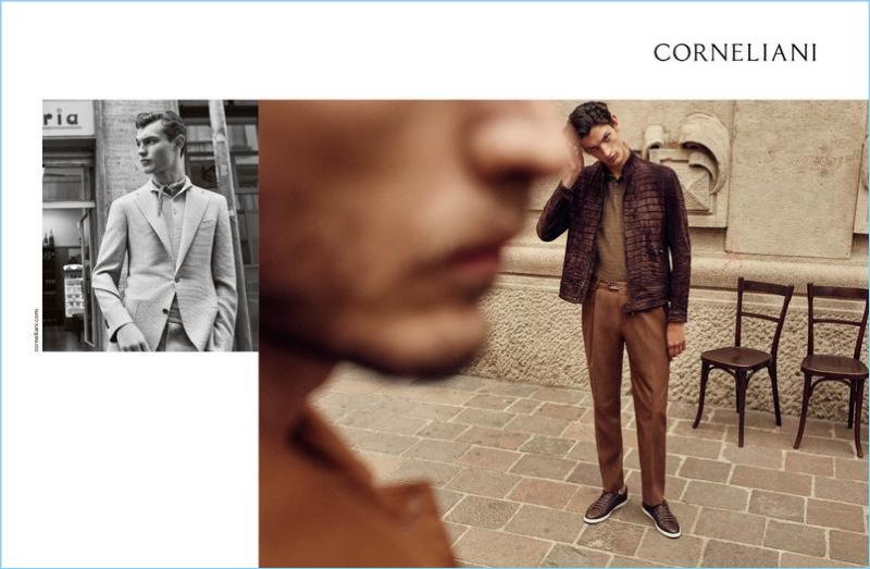 Italian brand Corneliani unveils its spring-summer 2018 campaign.