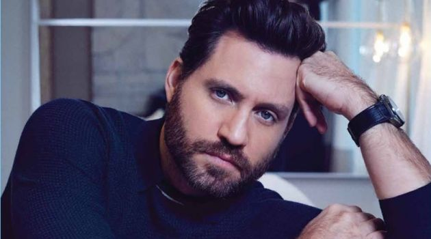 Michael Schwartz photographs Edgar Ramirez in an Ermenegildo Zegna sweater. Ramirez also sports a Hublot watch.