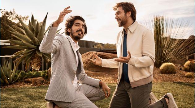 Javier Bardem & Dev Patel Come Together for Ermenegildo Zegna Spring '18 Campaign