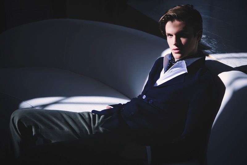 Dressed to impress, Model James Wyrick wears P Johnson Tailors.