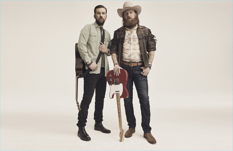 Brothers Osborne wears Chelsea boots by The Frye Company for the brand's Hometown Pride campaign.