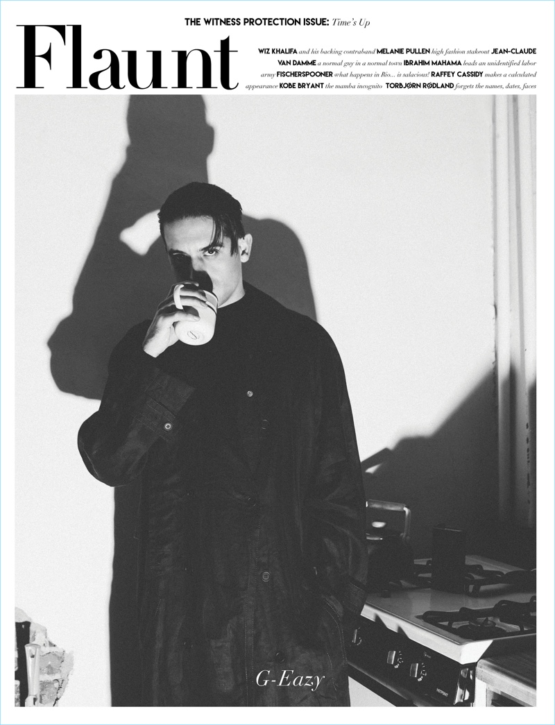 G-Eazy covers the latest issue of Flaunt magazine.