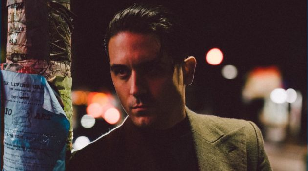 Rapper G-Eazy rocks a Lanvin coat with a Hugo Boss top.