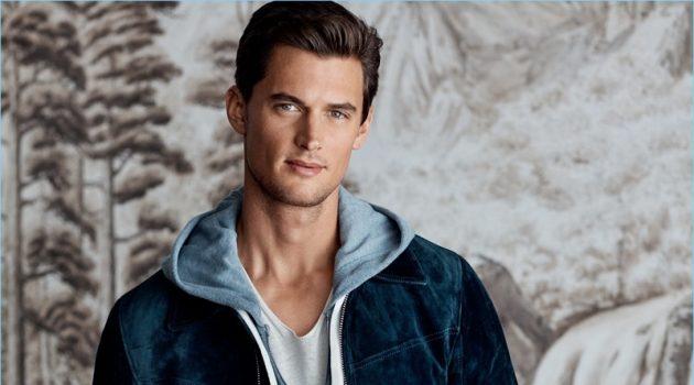 American model Garrett Neff wears Tom Ford.