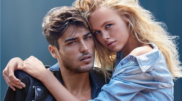 Alessandro Dellisola fronts the fragrance campaign for Guess 1981 Indigo.