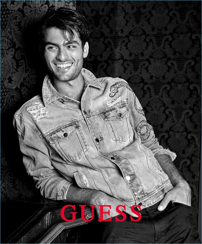 All smiles, Matteo Bocelli stars in Guess' spring-summer 2018 campaign.