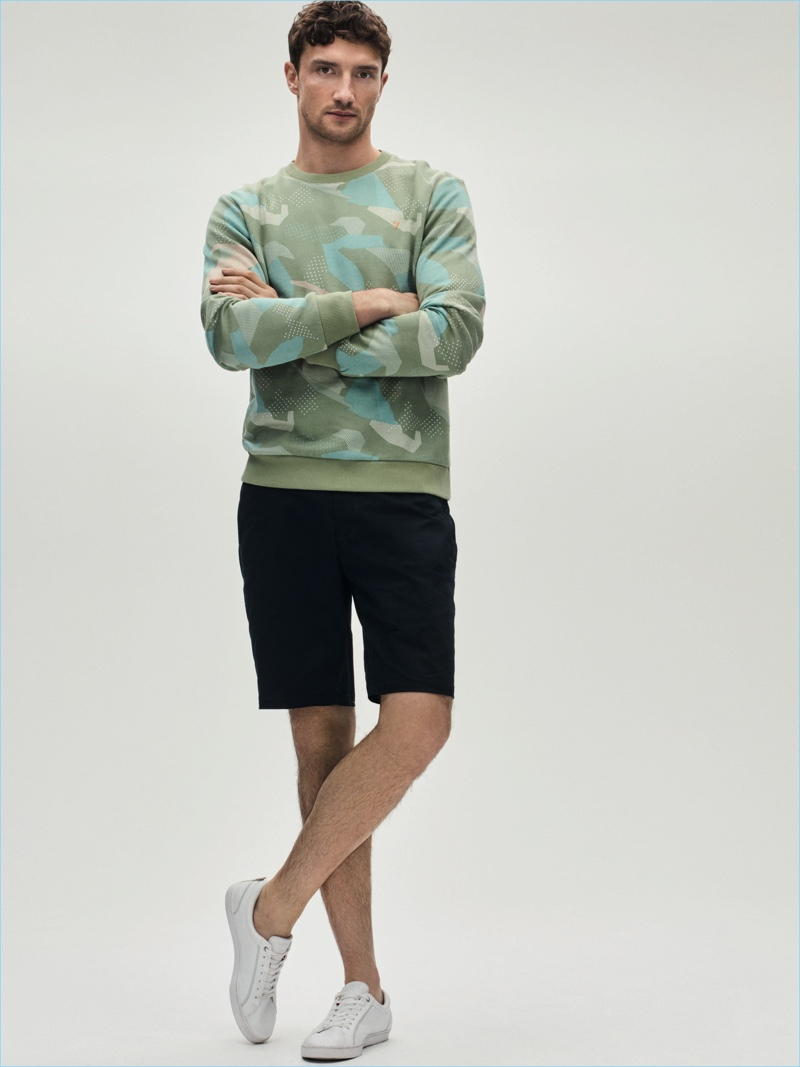 Sweatshirt £60 Farah Shorts £75 Armani Exchange at House of Fraser