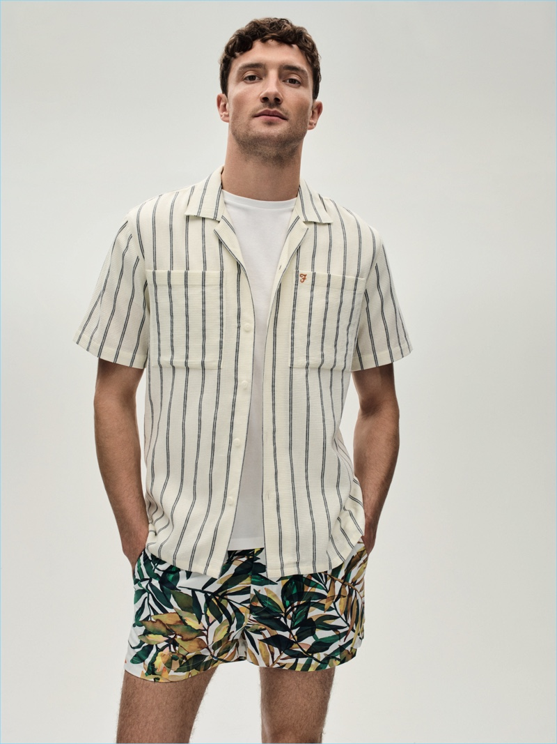 Shirt £65 Farah T-Shirt £15 Linea Shorts £120 Libertine at House of Fraser