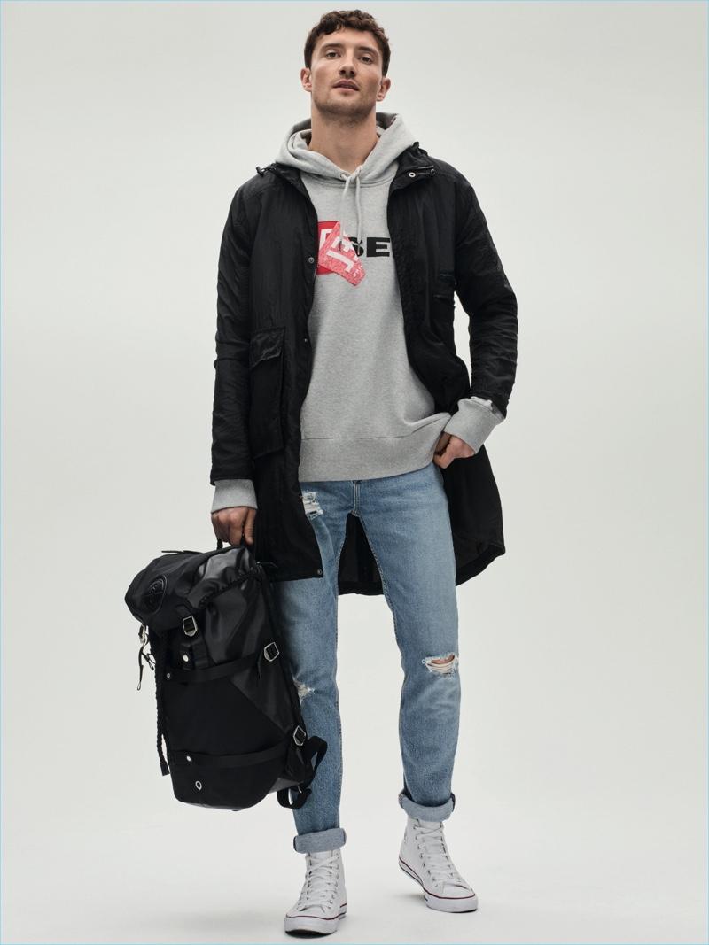 Mac £99 Label Lab Hoodie £110 Diesel Jeans £95 Levi's Backpack £110 Stighlorgan at House of Fraser