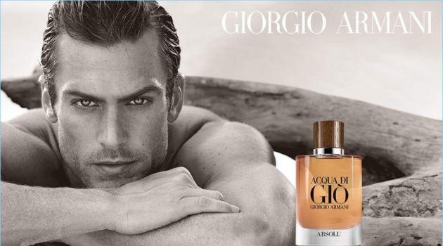 Jason Morgan stars in the Giorgio Armani Acqua di Giò Absolu fragrance campaign.